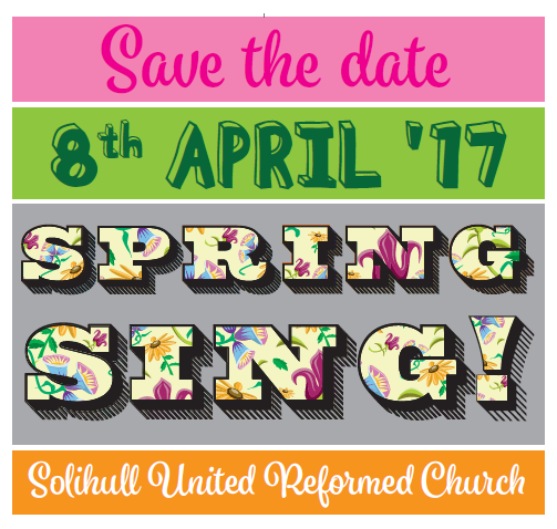 Spring Sing! 2017 - Save the Date